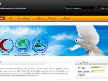 Web Application : International Humanitarian Mission