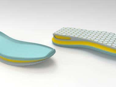 Diseño basico 3D de suela deportiva a partir de una horma