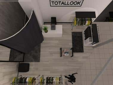 Disign & visualisation of TOTALLOOK store (Minsk)