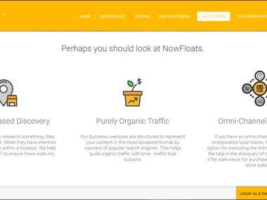 Static HTML page For nowfloats.com