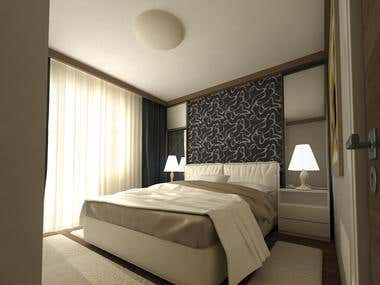 Bedroom design and render