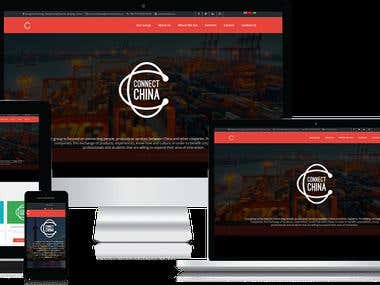 Connect China - Wordpress Website