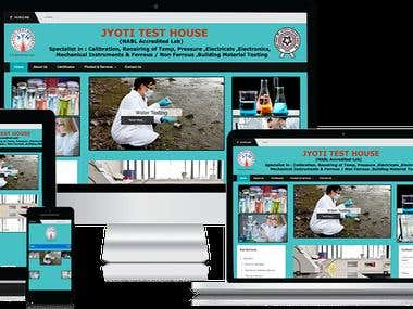 JyotiTestHouse  - Wordpress Website