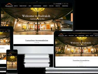 Rudraksh Resorts - Wordpress Website