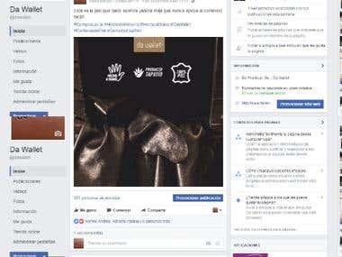 Administración Facebook Da Wallet