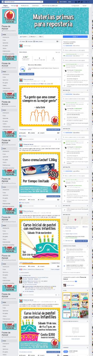 Administración Facebook Flores de Azúcar