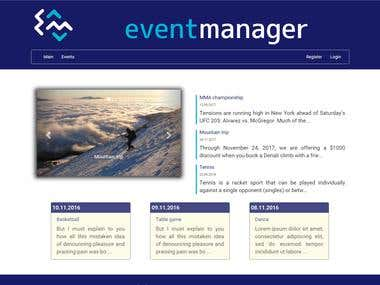 Event manager application