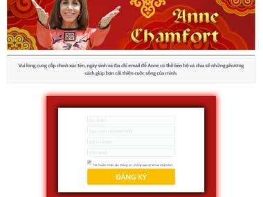 Anne Chamfort - Fixed registration page not loading