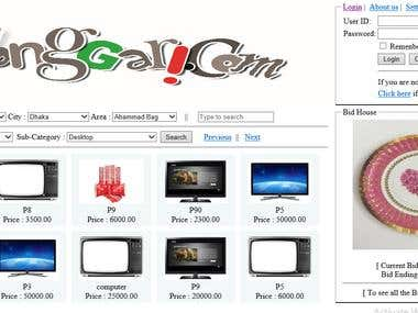 Online Store with Bidding House