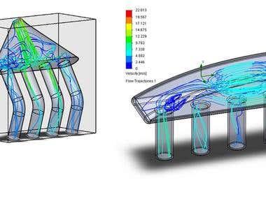 flow simulation of various intake system