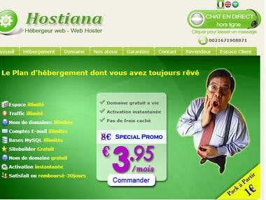 Website for hosting, domaine