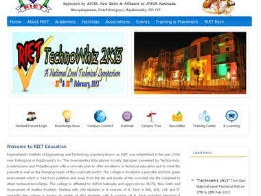 RIET Engineering College Website