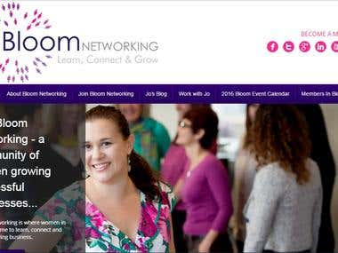 Networking Website developed in Wordpress CMS