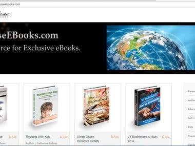 Ebook Online Store Website developed in PHP Framework