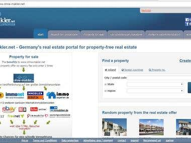 Real Estate Website developed in CMS