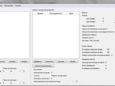 Yandex/Google Scrapper