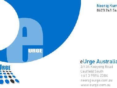 eUrge Business Card Design