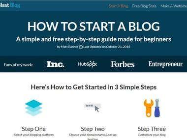 Technology Blog Website Development