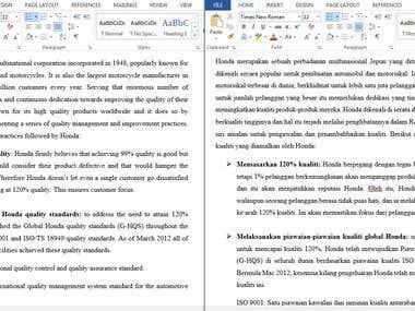 ENG-MALAY Honda Foundation and Its Establishments Paperwork