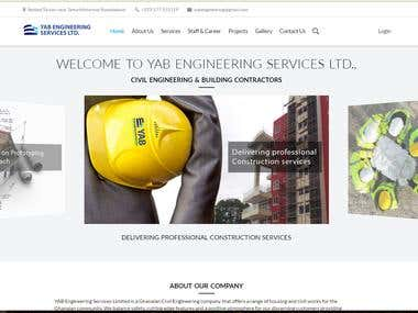 YAB Engineering corporate website + Custom CMS
