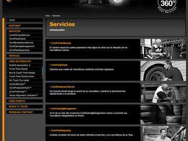 Web corporativa y sistema de fidelización para Continental