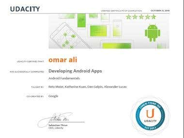 Android Development Certificate