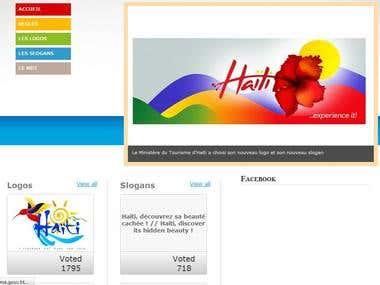 Haiti slogans/logos voting