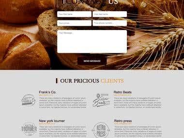 BAKERY WEBSITE TEMPLATE DESIGN