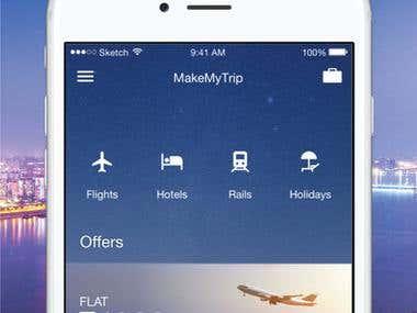 MakeMyTrip Mobile application