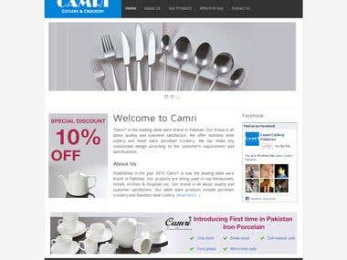 Camri Website Design