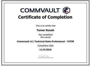 Commvault v11 Technical Sales Professional