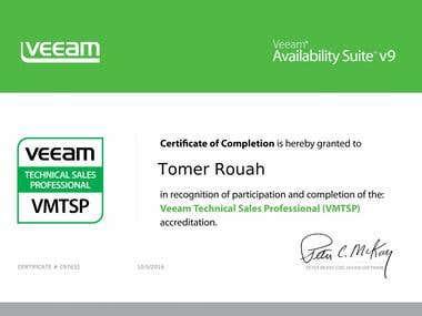 Veeam Technical sales profesional