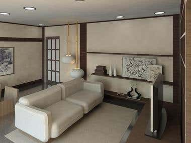 Design on Zen Living Room