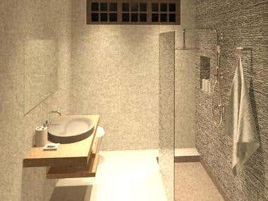 Design of Zen Bathroom