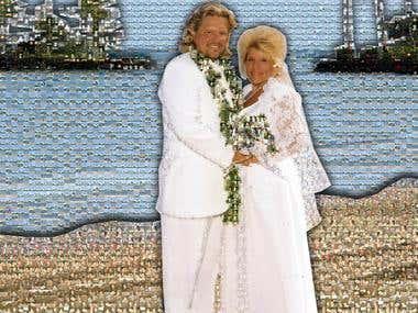 Wedding Mosaic Portrait