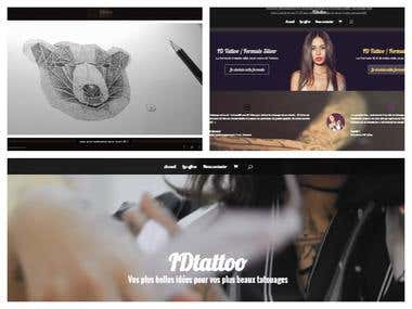 Student Project Website for Tattoo Workshop