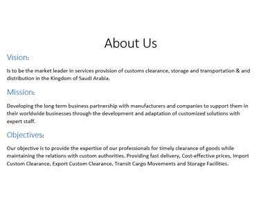 Wasl Group, Website Content