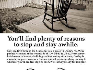 Print Ad - City of Oakley Tourism