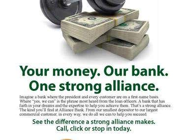 Print Ad - Alliance Bank