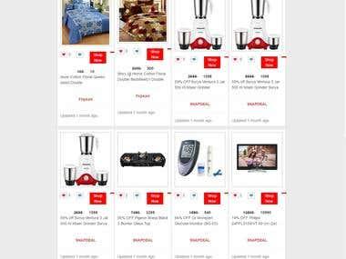 Ecom Parallex Responsive Dynamic Website