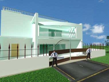 Duplex Project 3D by AutoCAD