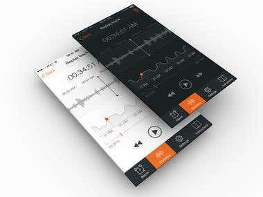 Audio editor app design