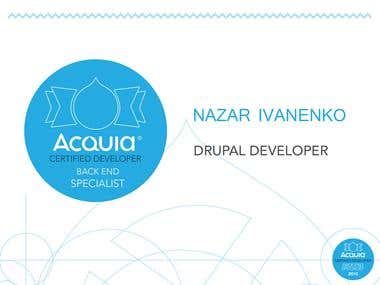 ACQUIA Certified Drupal BackEnd Specialist