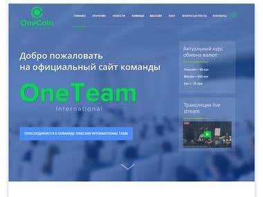Website development for Onecoin team