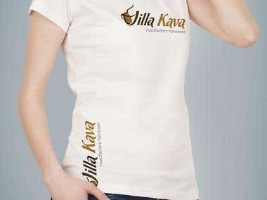 Logo and Shirt Design for Villa Kava