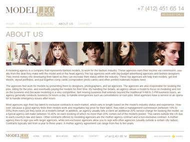 "Modeling agency website ""ModelLeo\"""