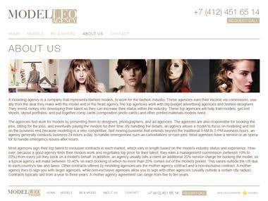 """Modeling agency website \""""ModelLeo\"""""""