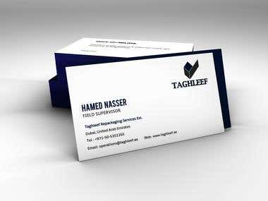 Visiting Card for Taghleef UAE
