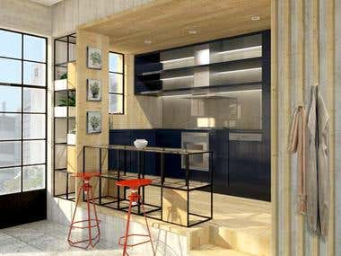 industrial style urban apartment