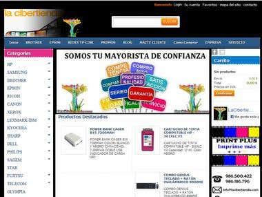 Tienda virtual dedicada a la venta de cartuchos de tinta